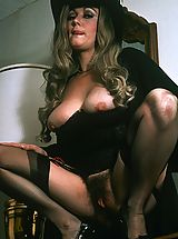 Amazing retro babe with big tits sucking cock