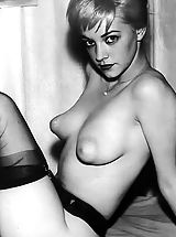Breast Nipples, Retro Style Woman