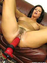 Brutal Dildos Nippels, Vanessa gets pussy fucked by dildo