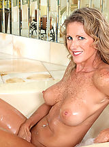 Nipples, Seductive Anilos Jade gets wet in the tub and fondles her pink juice box