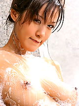 Hard Nipples, Asian Women irene fah 02 shower big nipples nice tits