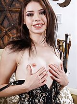 [Spintax1], Photo Set No. 1336 Lucie Cline shows her own awesome chest and bares her own perfect vagina