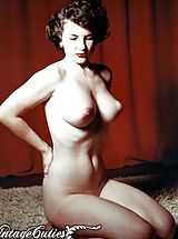 Big Dark Nipples, Vintage Porn at its best from Vintage Cuties