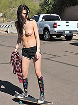 FTV Girls Nippels, Aiden gets emo and tires to skateboard topless