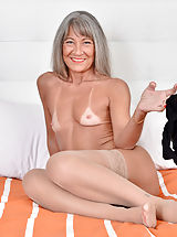 Big Areolas Pics, Cougar Leilani Lei may be an older granny, but she wears tight dresses with short skirts. Slipping out of her bra and panties to play with her tan line hanging boobs and juicy cunt is second nature, especially when she uses a dildo and vibrator to help he