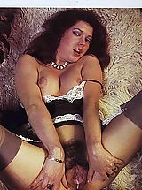 Naughty chicks from the eighties showing fur