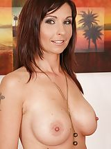 naked tits, Immense Busted milf Wendy looking fine as hell in to her red high heel pumps.