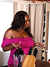 Black Pics: Jada Fire has been watching her neighbor Denis for a while now. Now that the wife is away, it's time she introduce herself... to his cock.