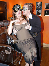 Vintage Retro, Content of Jaime Brooks - My husband and I attended a masquerade party. It was great dressing up and wearing masks. The best part was having a sexy stranger join us downstairs for a little crazed, masked sex adventure...