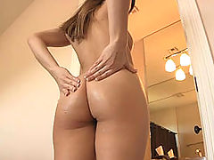 nice butt , Dani gives herself a hard breast and ass massage