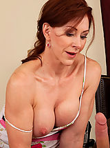 Naughty America Pics: Hot redhead milf loves the cock