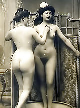 naked girls, Rich and Filthy Dames of the 19 Century Posing Naked and Having Fun in the Rare Retro Photos of Circa 1895