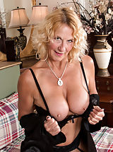 Why do girls nipples get hard, UK Granny Molly Maracas wants to talk dirty to you while she caresses her stockinged legs and hanging bigtit boobs in bed. While this lush cougar is showing you what she likes, she'll slowly peel off her robe and lingerie until she has uncovered the magic