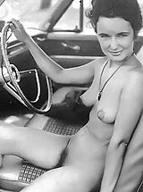 Retro Vintage, Shocking Naturist Photos That They Don't Show To Others but Keep For Themselves - Pussy Spreading In Naked Public
