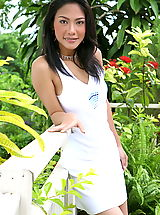 Asian Women britney song 03 white dress asian hairy pussy