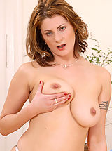 young naked, Sultry Anilos Maiky pleasures her mature pussy with a sex toy in her bedroom