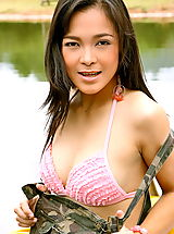 Asian Women carrie lee 01 army upskirt boat rental