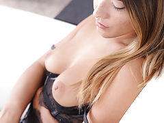 Longest Nipples, Freckled beauty Eva Lovia dresses in lacy lingerie to seduce her man into a wild fuckfest in her landing strip pussy