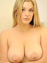 Naked Big.Tits, Danielle strips down and showers her pussy and titties
