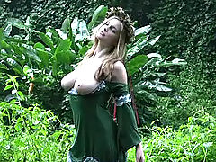 Big.Tits Vids: Danielle gets naught in the jungle
